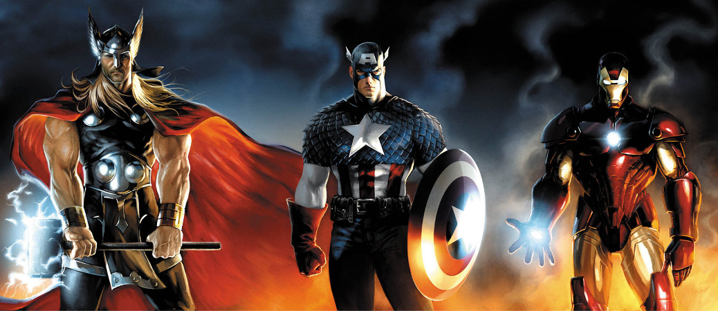 marvel super heroes thor capitan america iron man