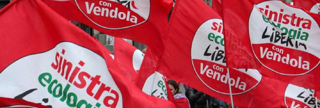 sinistra ecologia libertà vendola bandiere