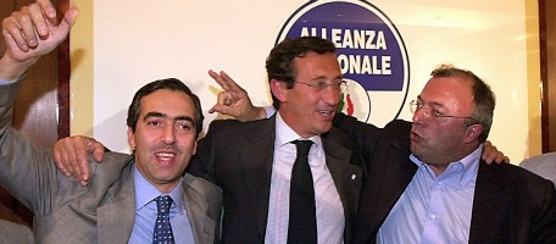 gianfraco fini francesco storace maurizio gasparri alleanza nazionale