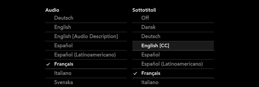 Che cosa significa 'CC' nei sottotitoli?